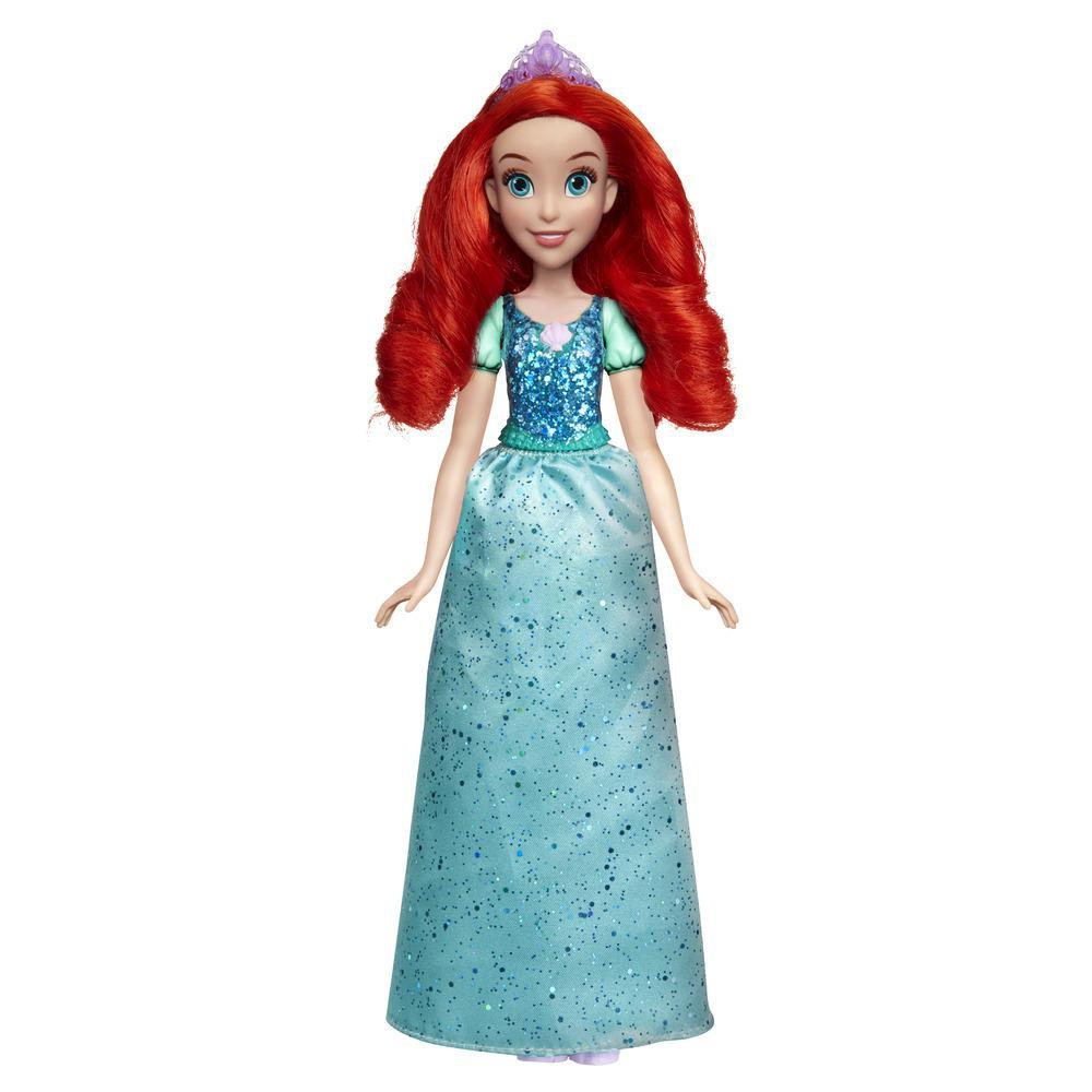 Disney Princess - Ariel (Fashion Doll) con gonna scintillante, diadema e scarpe