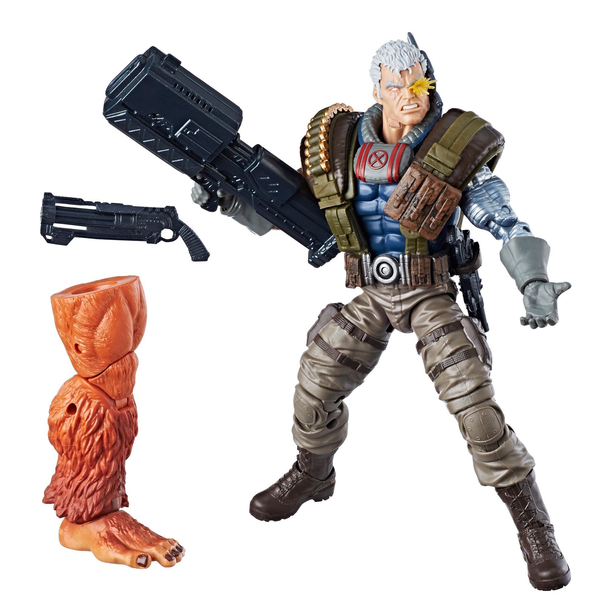 Marvel Legends - Cable (Build-A-Figure Marvel's Sasquatch Action Figure Collezione, 15 cm)