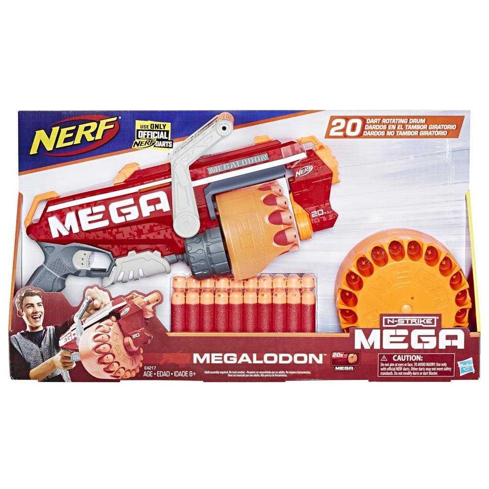 Nerf Mega - Megalodon (blaster con 20 dardi originali)