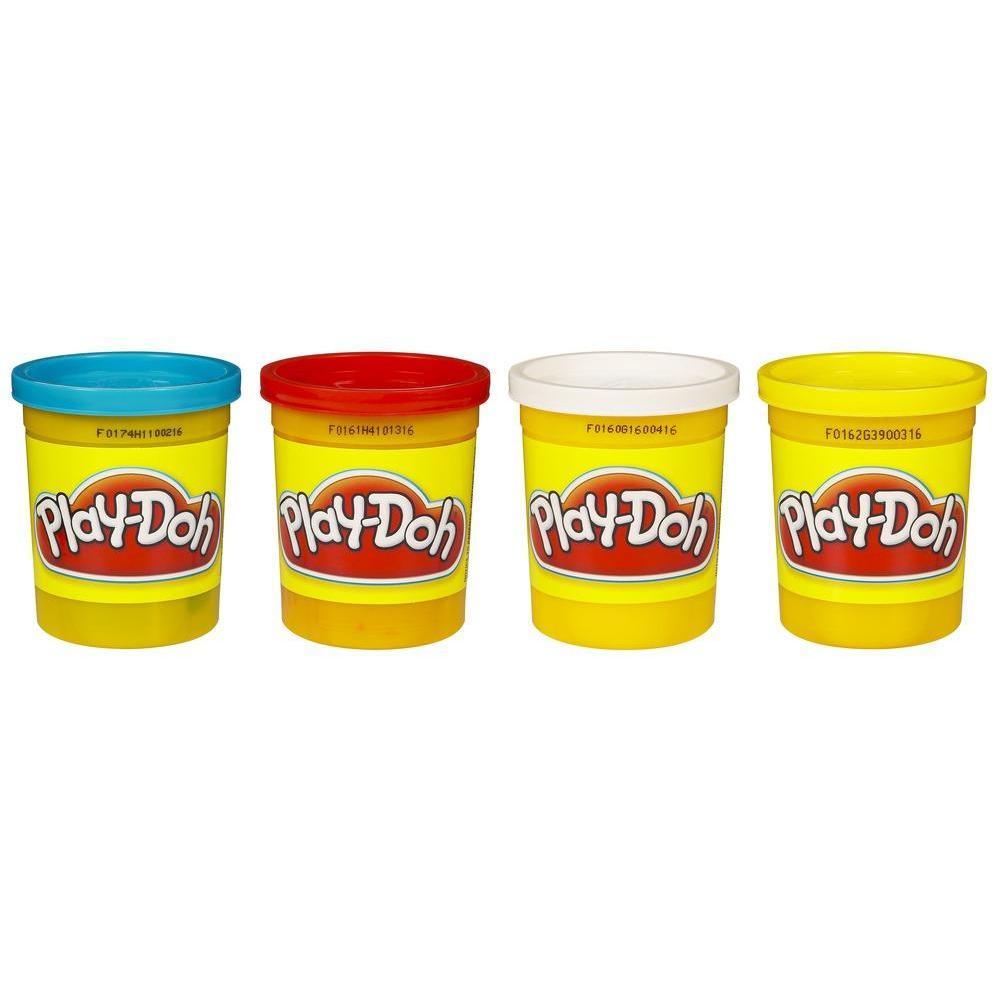 Play-doh Pack 4 Vasetti - Colori Primari