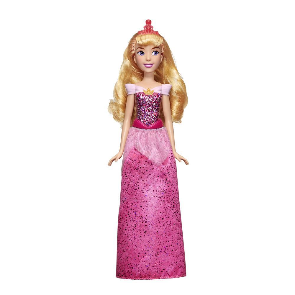 Disney Princess - Aurora (Fashion Doll) con gonna scintillante, diadema e scarpe