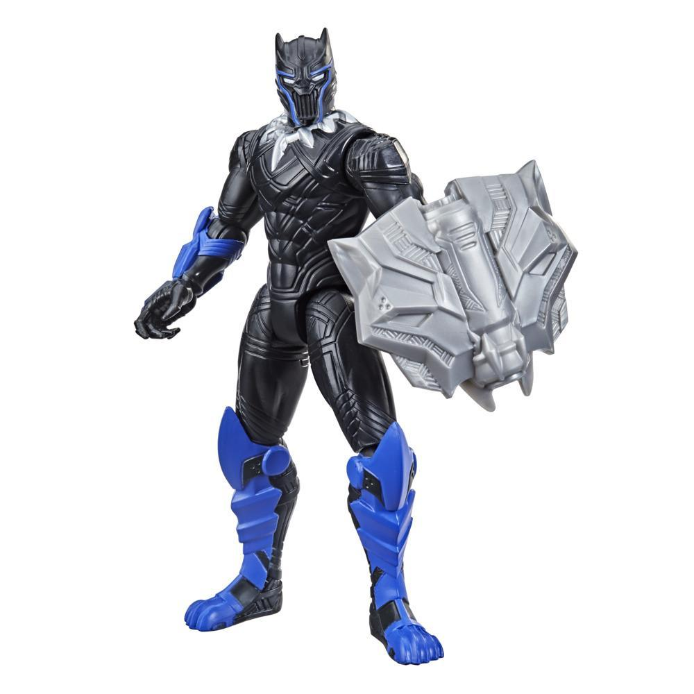 Avengers Mech Strike - Black Panther da 15 cm e accessorio Mech Battle