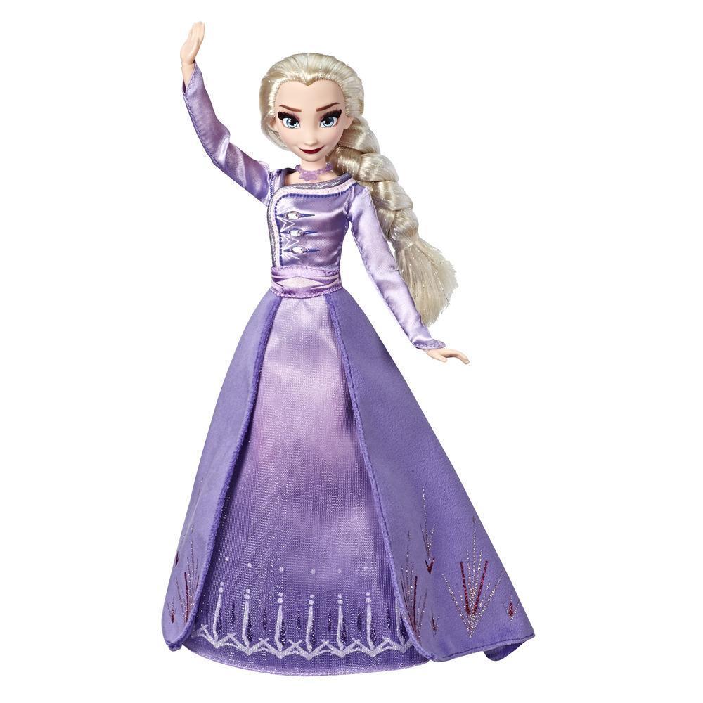 Disney Frozen - Fashion doll Arendelle Elsa con particolareggiato abito da viaggio blu ombreggiato ispirato al film Disney Frozen 2 - Giocattolo per bambini dai 3 anni in su