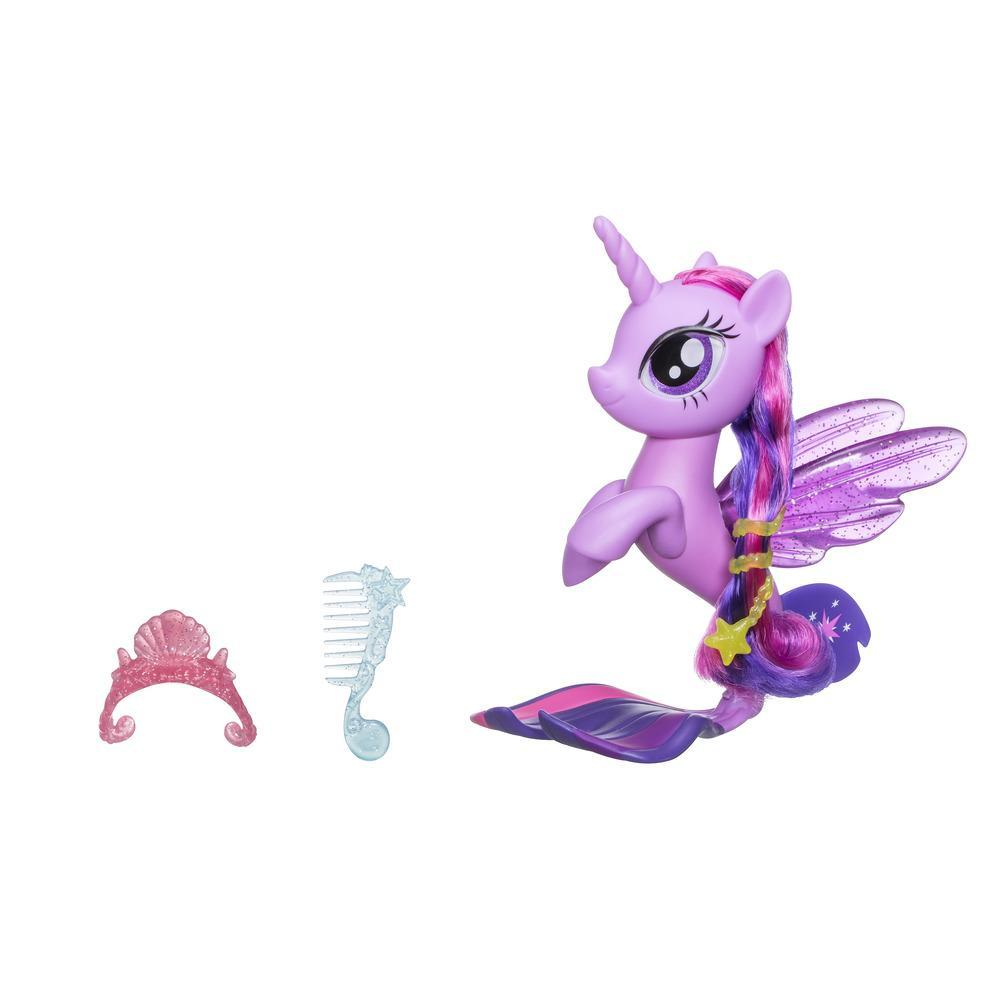 My Little Pony il Film Twilight Sparkle Cavalluccio Marino Glitter e Stile