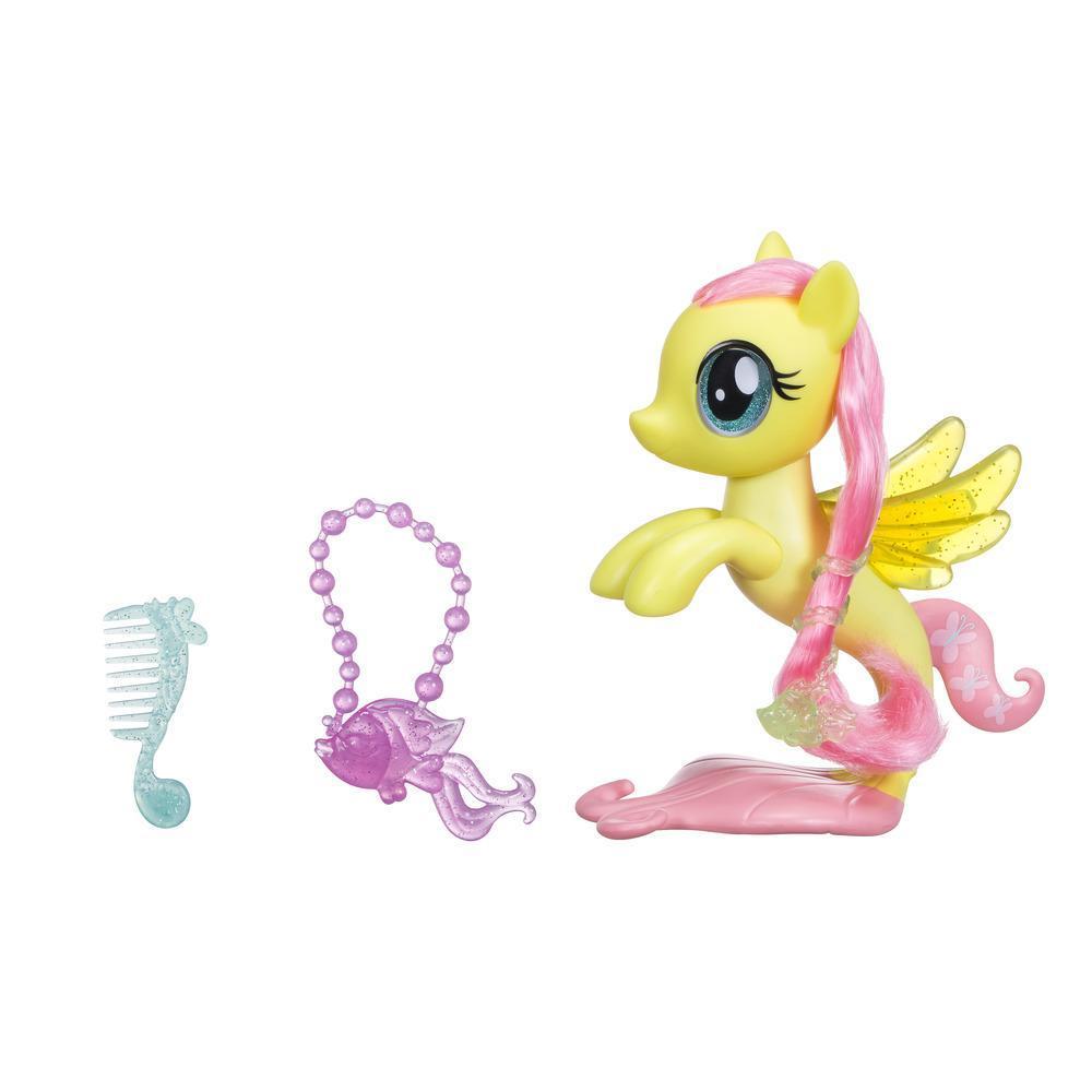 My Little Pony il Film Fluttershy Cavalluccio Marino Glitter e Stile