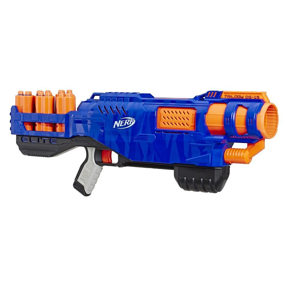 Nerf Elite - Trilogy DS-15 (blaster con 15 dardi originali e 5 cartucce)