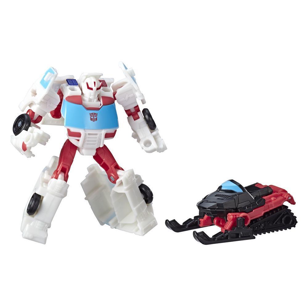 Transformers Cyberverse - Autobot Ratchet (con Spark Armor) - Si combina con Blizzard Breaker per potenziarsi - Adatto a bambini dai 6 anni in su, 10 cm