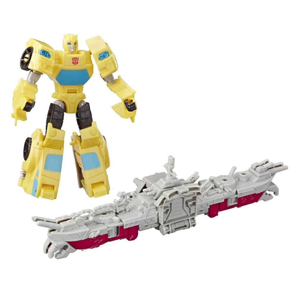 Transformers Cyberverse - Bumblebee con Spark Armor - Si combina con il veicolo Ocean Storm Spark Armor per potenziarsi - Dai 6 anni in poi, 14,5-cm
