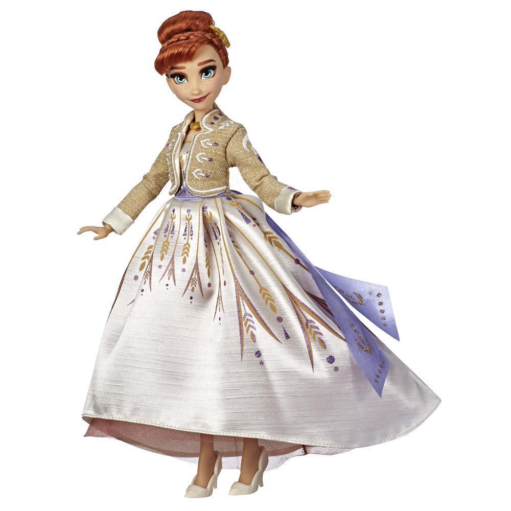 Disney Frozen - Fashion doll Arendelle Anna con abito bianco scintillante da viaggio ispirato al film Disney Frozen 2 - Giocattolo per bambini dai 3 anni in su