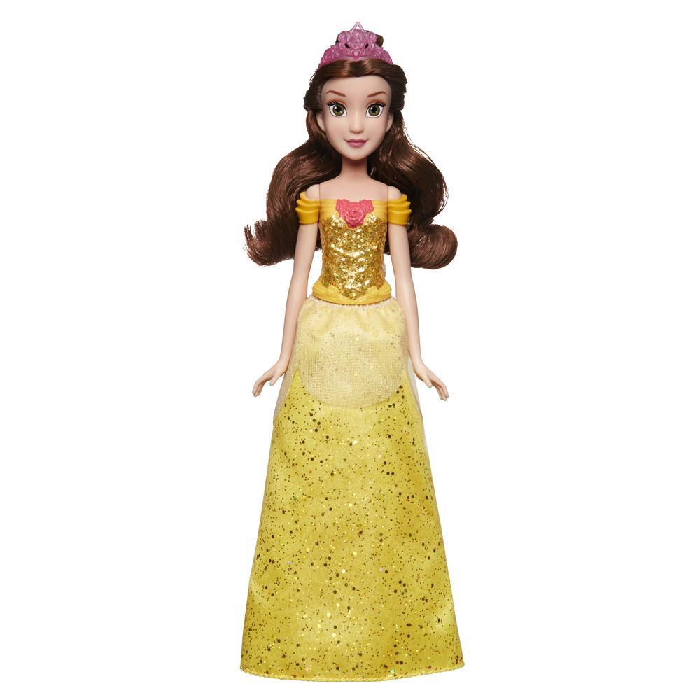 Disney Princess - Belle (Fashion Doll) con gonna scintillante, diadema e scarpe