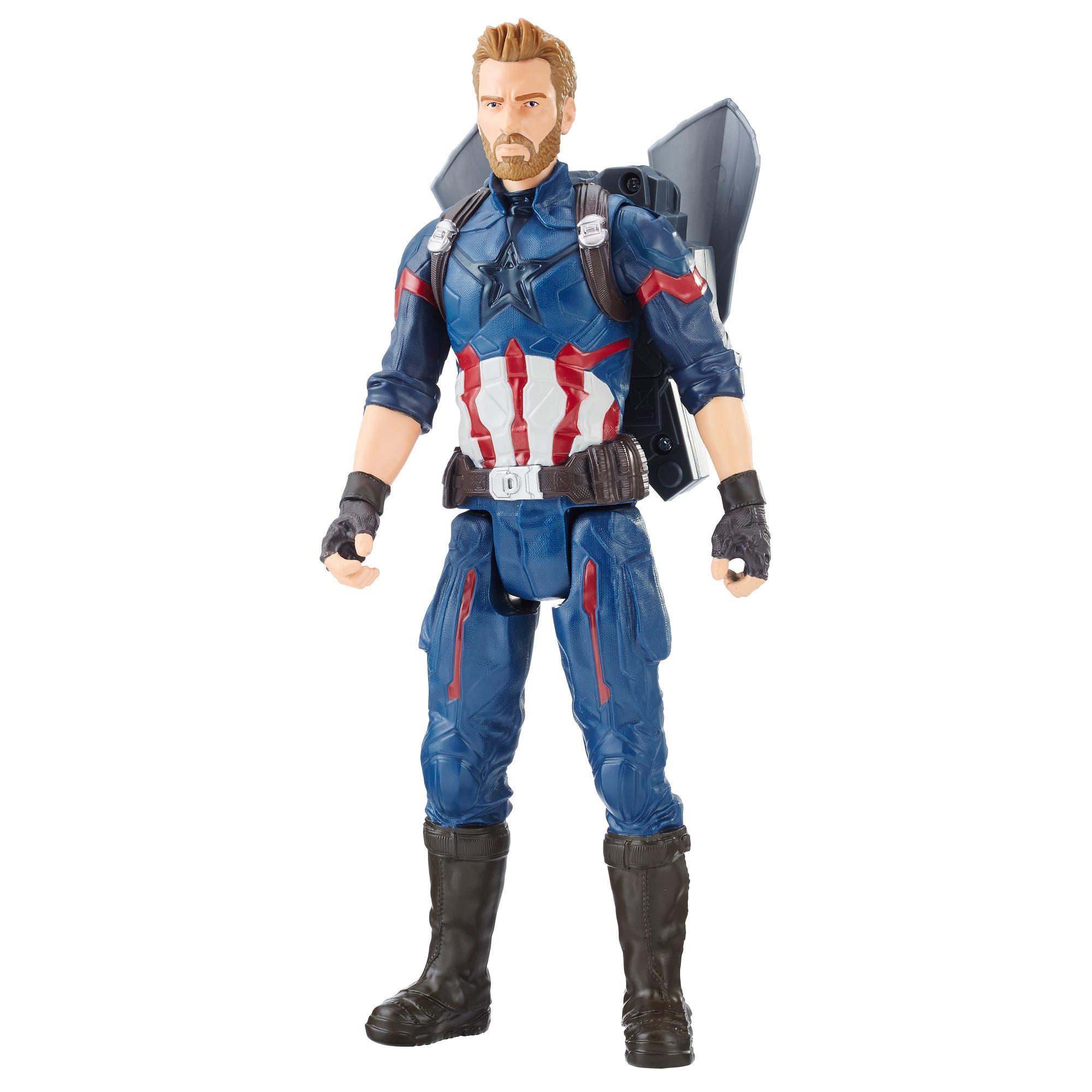 Avengers: Infinity War - Captain America Titan Hero Power FX (Personaggio 30cm, Action Figure)