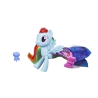 My Little Pony il Film Rainbow Dash Stili alla Moda per Terra e per Mare