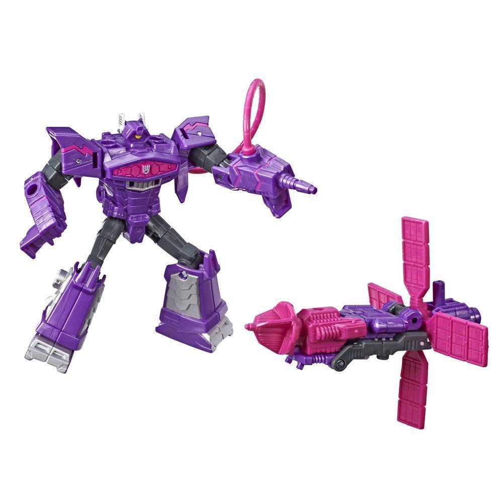Transformers Cyberverse - Shockwave (con Spark Armor) - Si combina con Solar Shot per potenziarsi - Adatto a bambini dai 6 anni in su, 10 cm