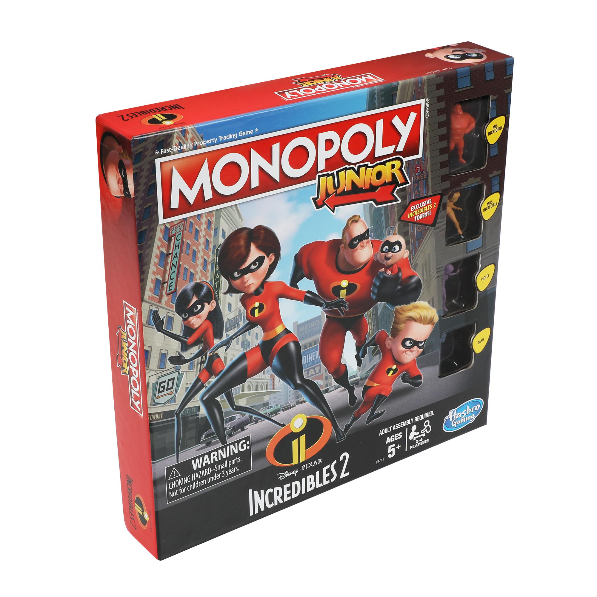 Monopoly Junior Gli Incredibili 2 (Disney Pixar)