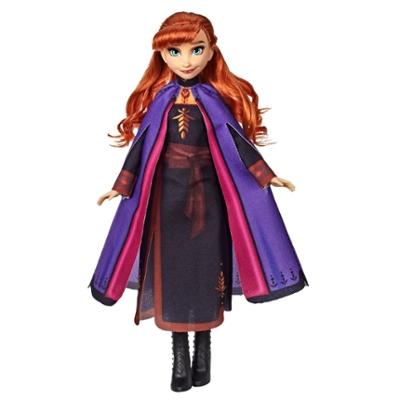 Disney Frozen - Anna (Fashion Doll con capelli lunghi e abito blu, ispirata al film Frozen 2)