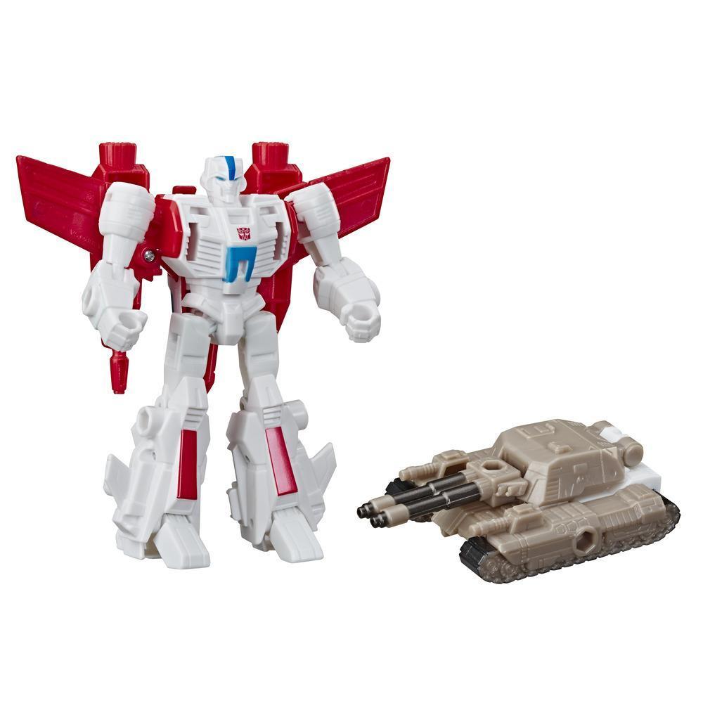 Transformers Cyberverse - Jetfire (con Spark Armor) - Si combina con il veicolo Tank Cannon per potenziarsi - Adatto a bambini dai 6 anni in su, 10 cm