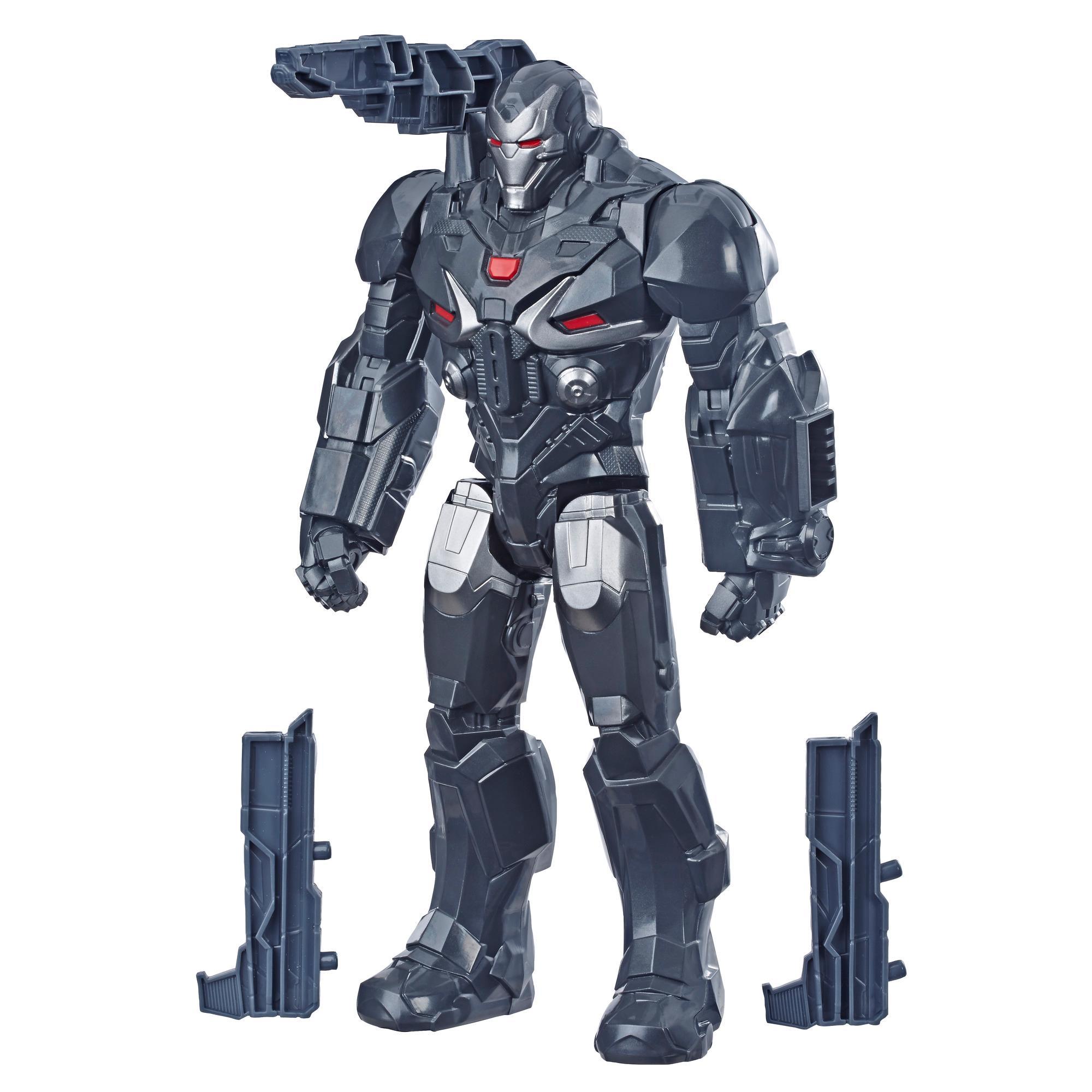 Marvel Avengers: Endgame - War Machine Titan Hero Deluxe compatibile con Power FX (Action Figure da 30 cm, Power FX non incluso)
