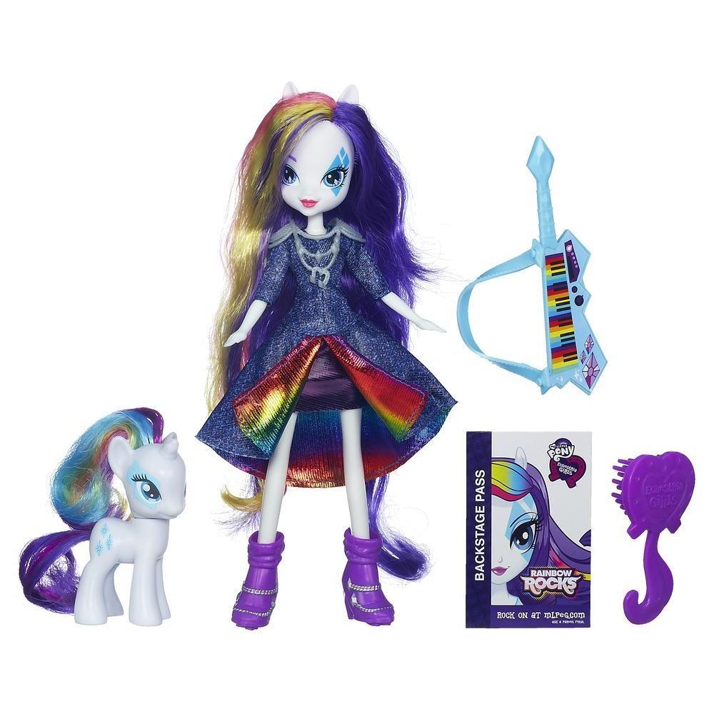 Equestria Girls Bambola Rarity con pony