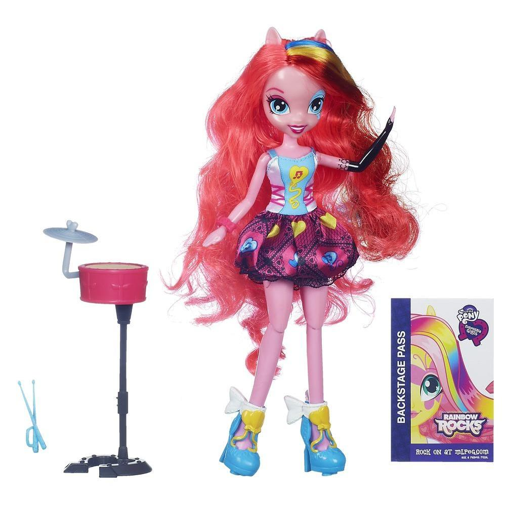 Equestria Girls Pinkie Pie Bambola Rock