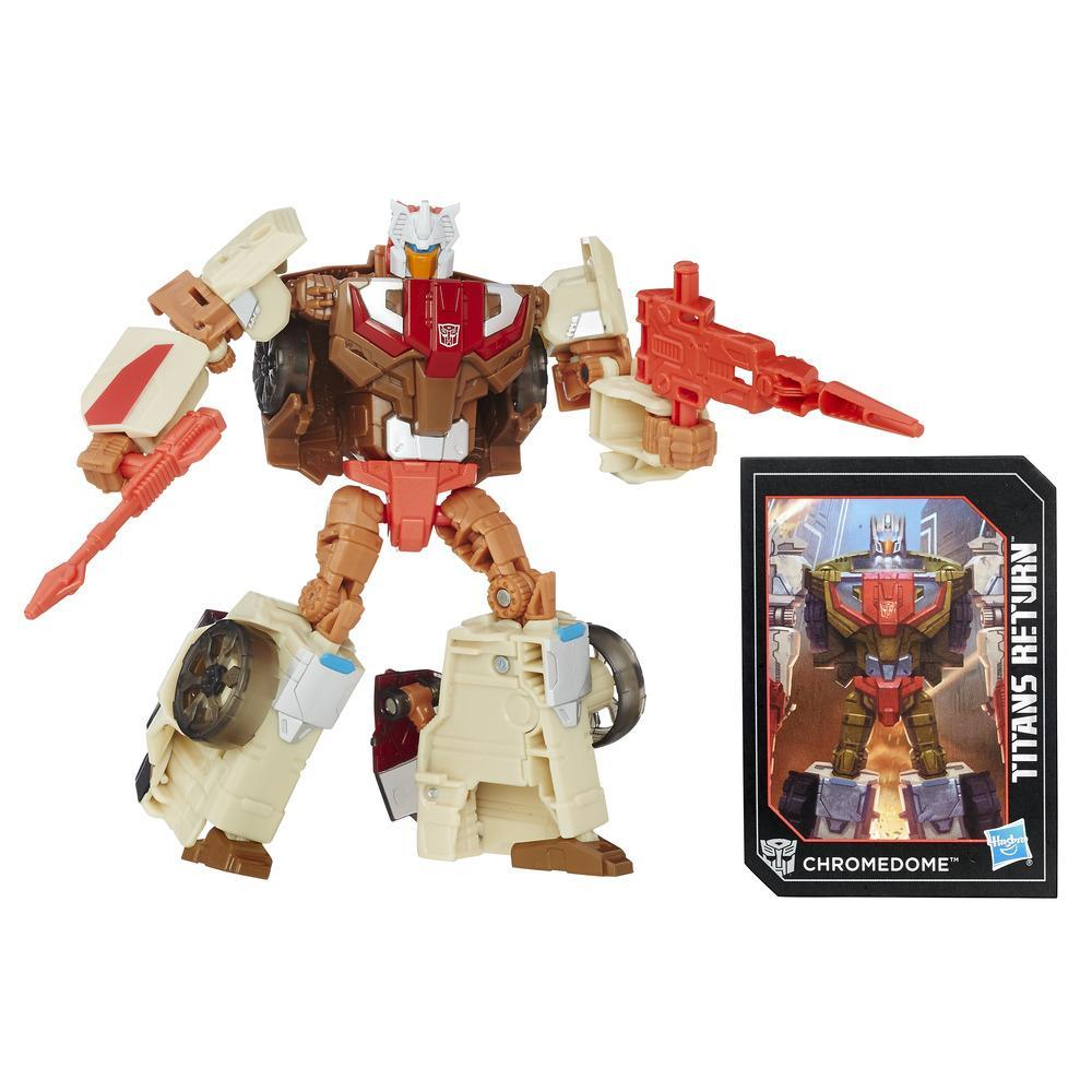 Transformers Generations Titans Master Autobot Stylor and Chromedome