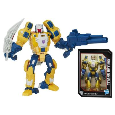 Transformers Generations Titans Master Monxo and Wolfwire