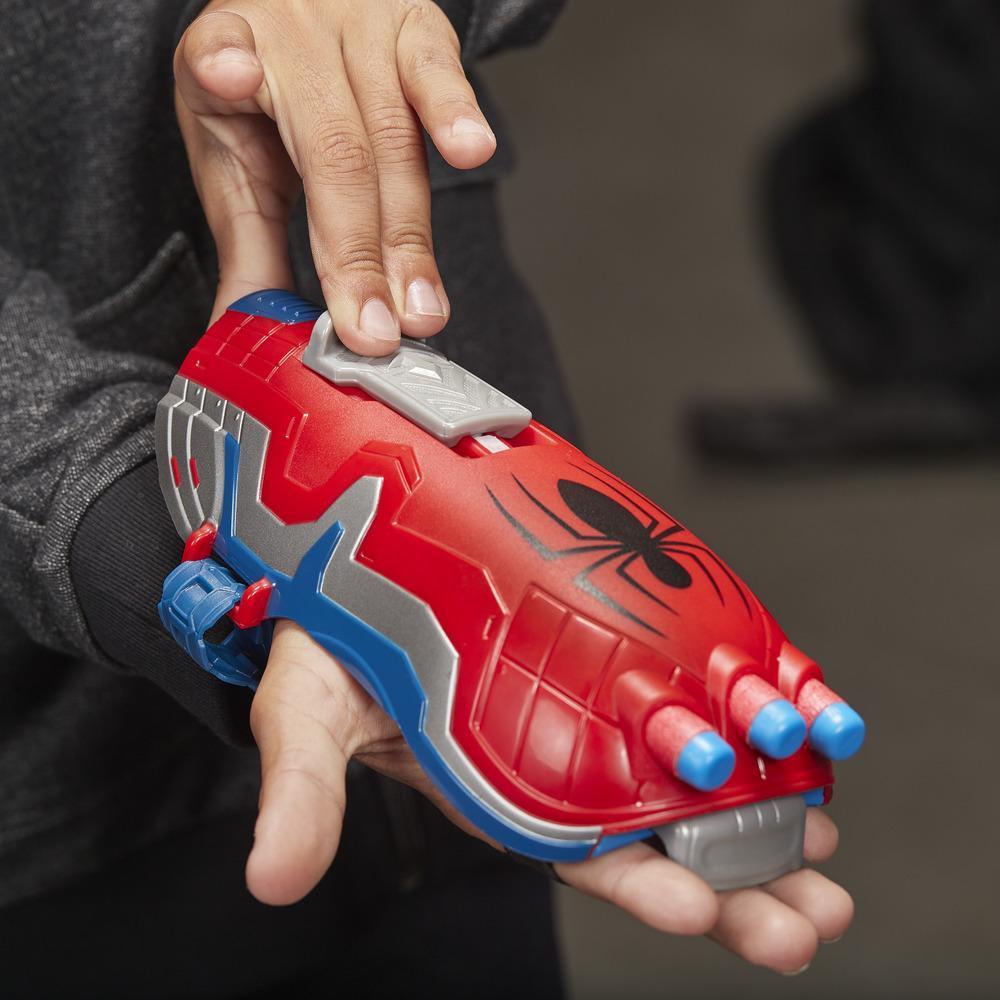 パワームーブス・マーベル・スパイダーマン・ウェブ・ブラスト・ウェブ・シューター NERFダート-お子様のロールプレイ用おもちゃが販売開始。対象年齢5歳以上