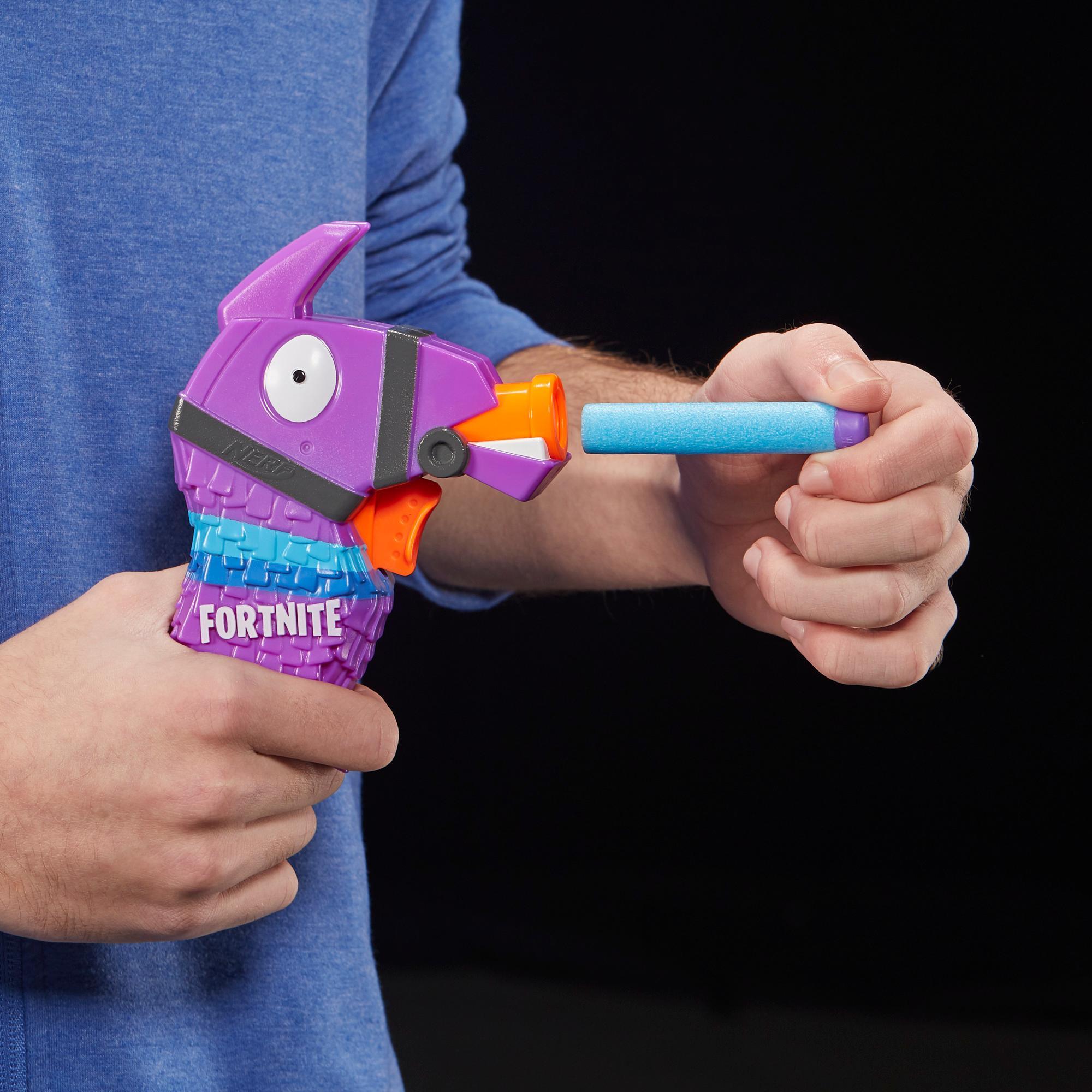 フォートナイト ラマ ナーフ マイクロショット ダーツ射撃  トイブラスターには2発のナーフ公式エリートダーツが付属。児童、青年、大人向け