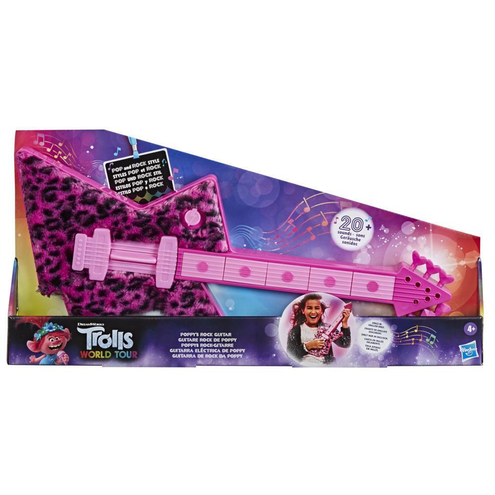 DreamWorks Trolls Wereldtour Poppy's rockgitaar, leuk muzikaal speelgoed voor kinderen vanaf 4 jaar