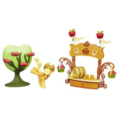 My Little Pony Friendship is Magic Scene Pack Sweet Apple Juice Stand Set