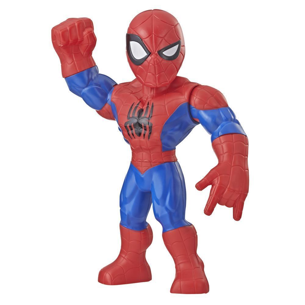 Playskool Heroes Marvel-superheldavonturen Mega Mighties Spider-Man, actiefiguur van 25 cm om te verzamelen, speelgoed voor kinderen vanaf 3 jaar