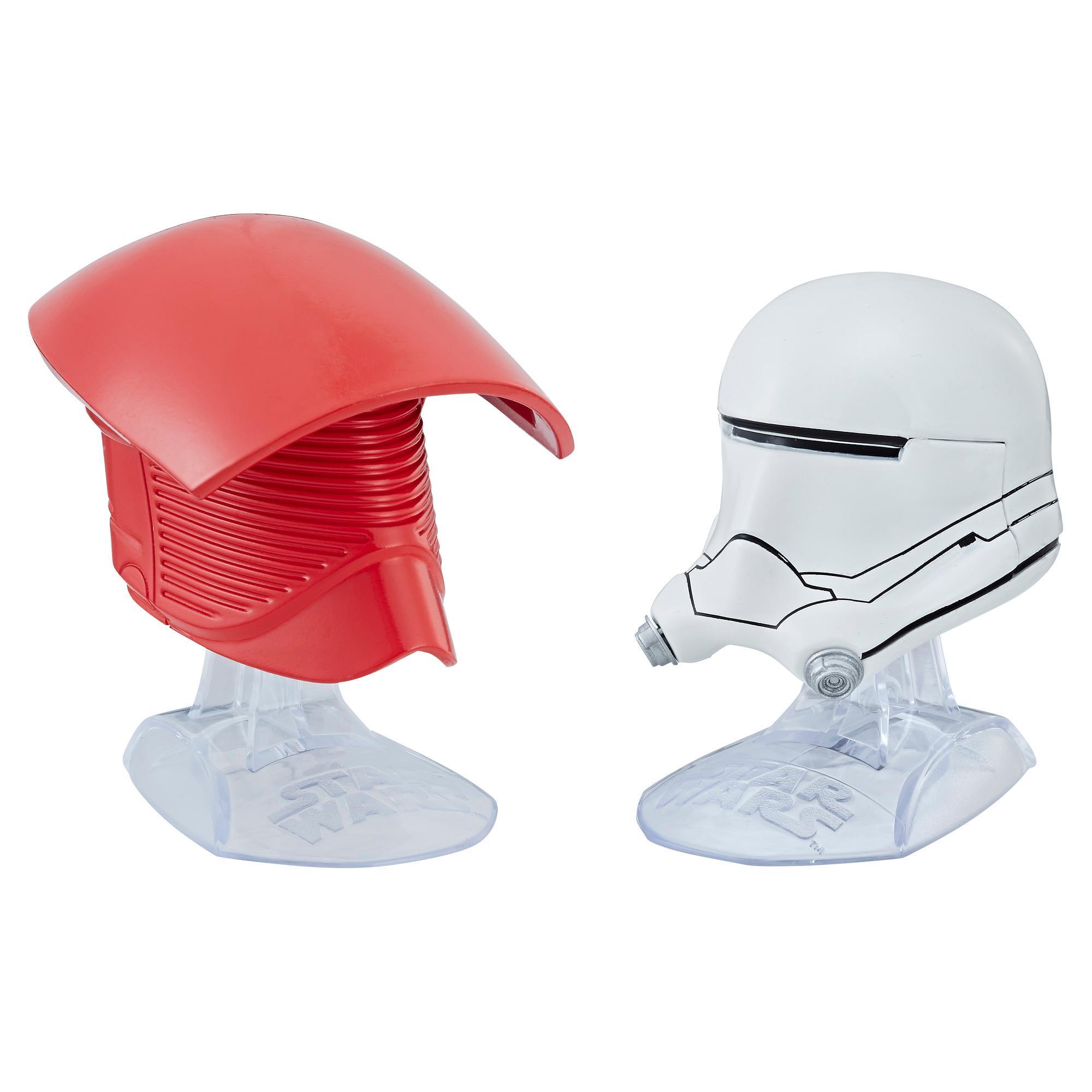 Star Wars Titanium Series Elite Praetorian Guard & First Order Flametrooper Helmets
