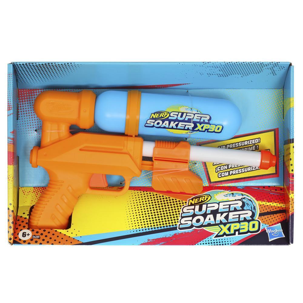 Nerf Super Soaker XP30-waterblaster -- Continue waterstraal onder druk -- Afneembaar reservoir – Voor kinderen, tieners, volwassenen