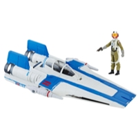 Star Wars Force Resistance A-Wing Fighter and Resistance Pilot Tallie Figure