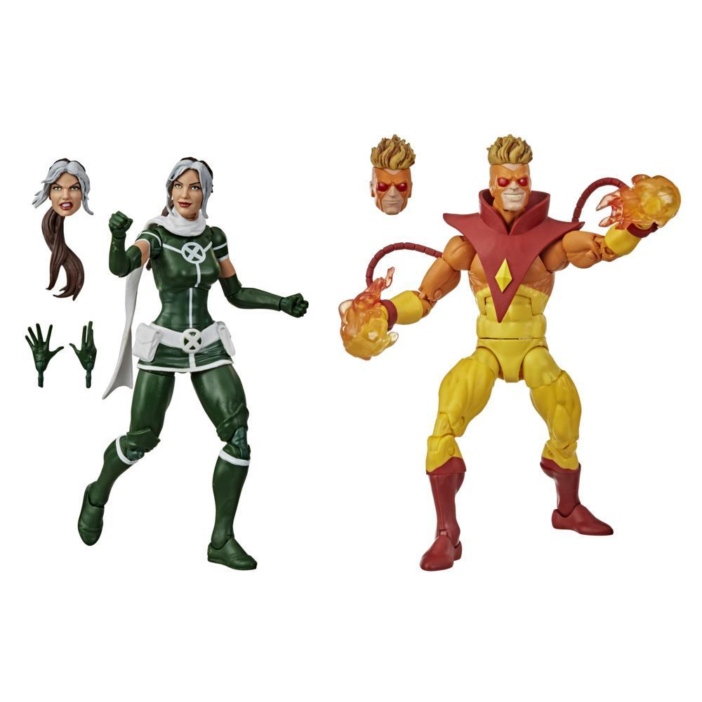 Hasbro Marvel Legends Series Marvel's Rogue- en Pyro-actiefiguren van 15 cm om te verzamelen
