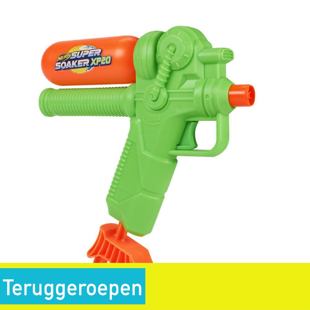 Nerf Super Soaker XP20-waterblaster -- Continue waterstraal onder druk -- Afneembaar reservoir – Voor kinderen, tieners, volwassenen