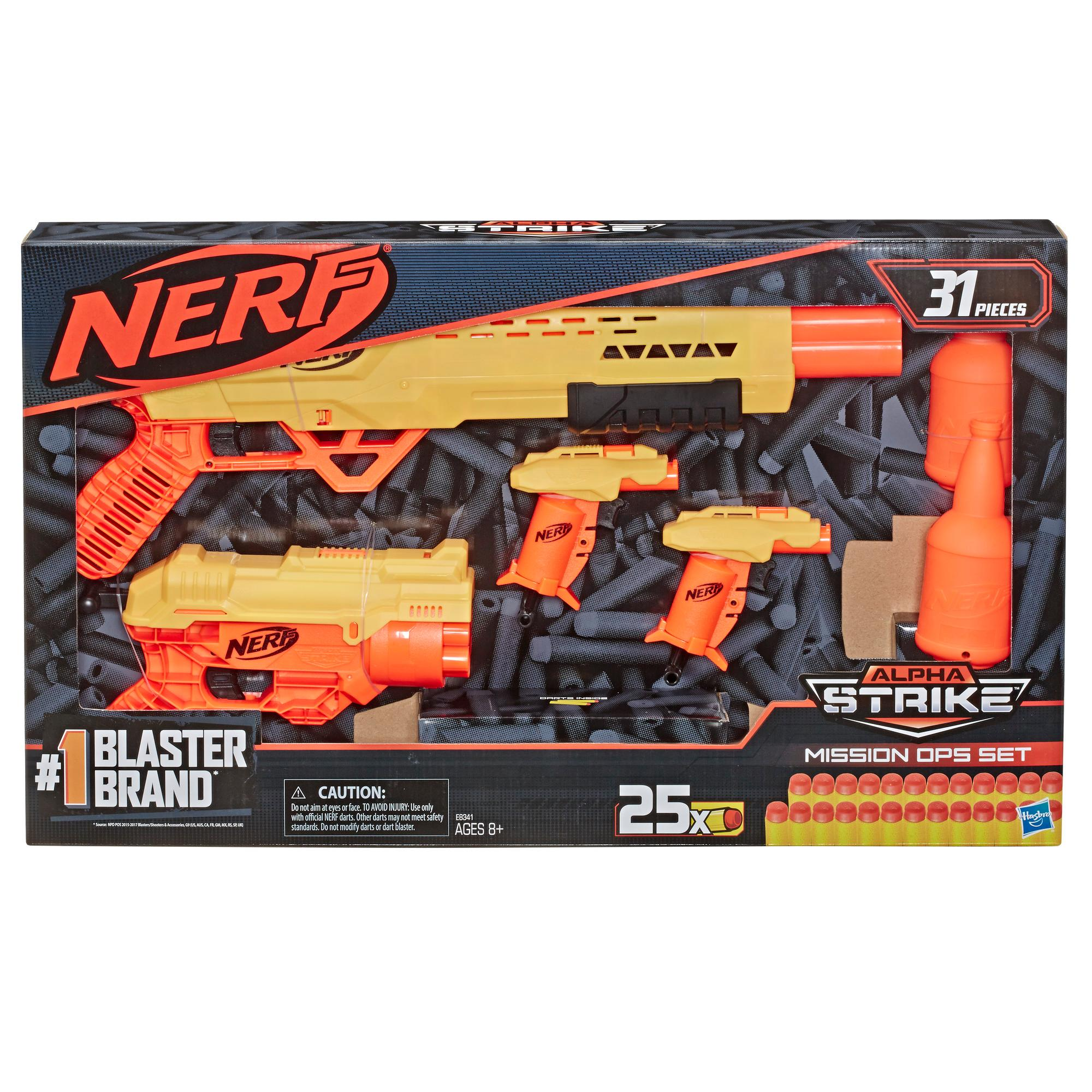 31-Piece Nerf Alpha Strike Mission Ops Set