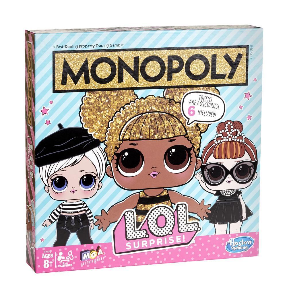 Monopolyspel: L.O.L. SURPRISE!-bordspel voor kinderen vanaf 8 jaar