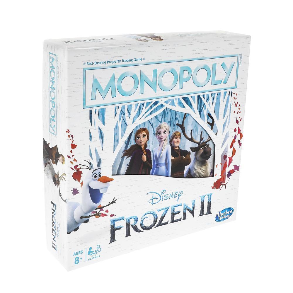 Monopoly-spel: Disney Frozen 2-editie bordspel voor kinderen vanaf 8 jaar