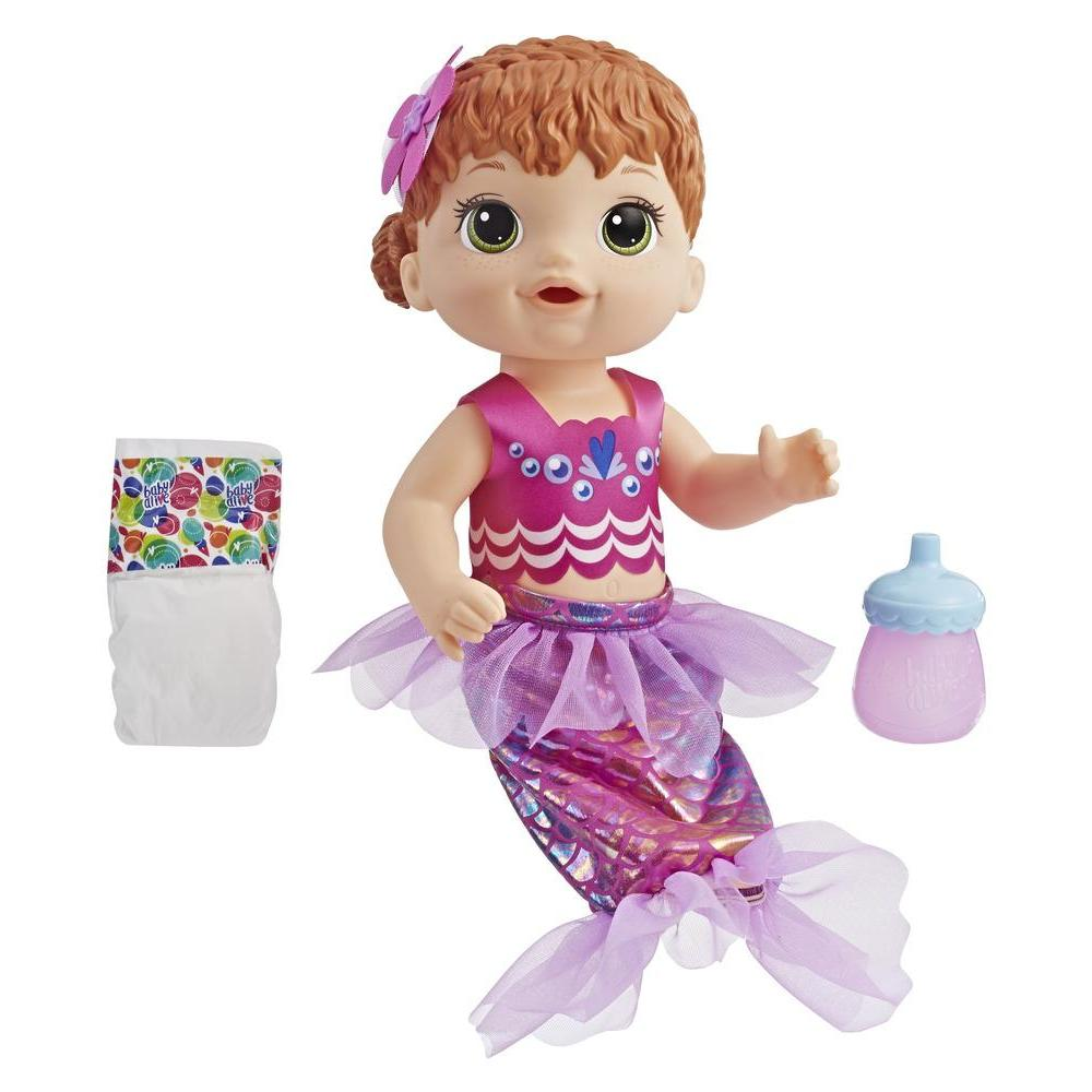 Baby Alive Shimmer 'n Splash Mermaid Red Hair
