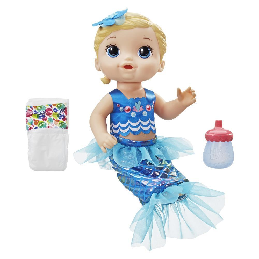 Baby Alive Shimmer 'n Splash Mermaid Blonde Hair
