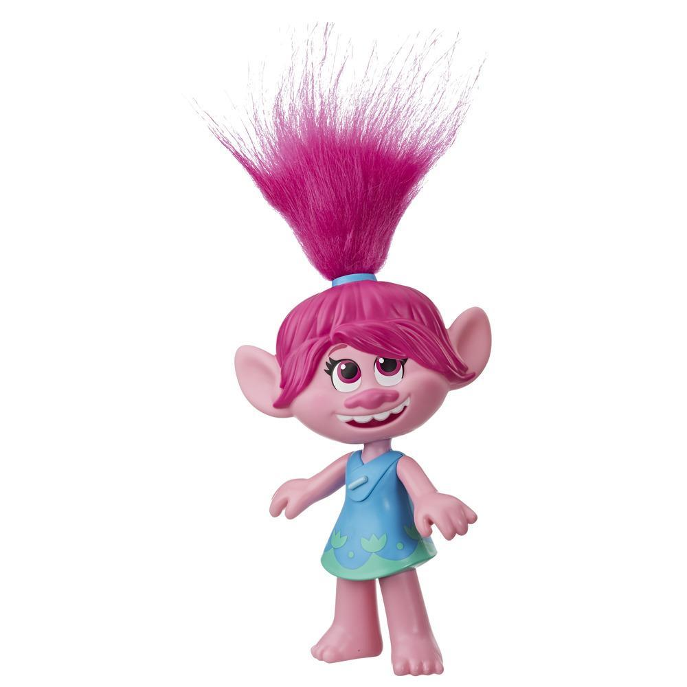 DreamWorks Trolls World Tour Superstar Poppy-pop, zingt Trolls Just Want to Have Fun, zingende speelgoedpop