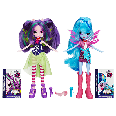 My Little Pony Equestria Girls Rainbow Rocks Aria Blaze en Sonata Dusk 2-Pack