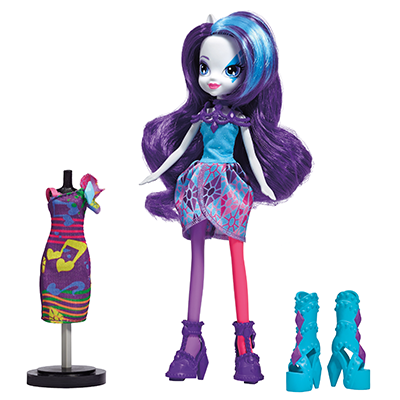 My Little Pony Equestria Girls Rainbow Rocks Rarity met kleding