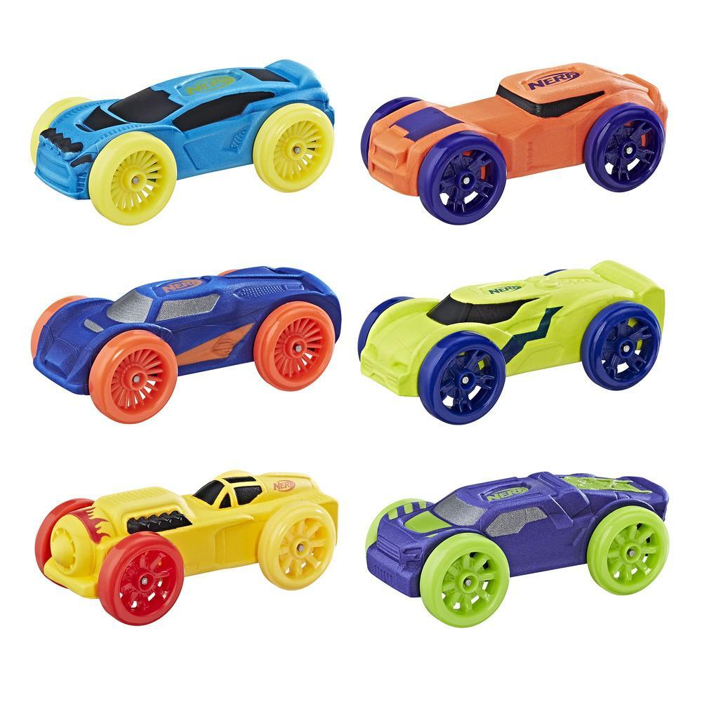 Nerf Nitro Foam Car 6-Pack (Pack 2)