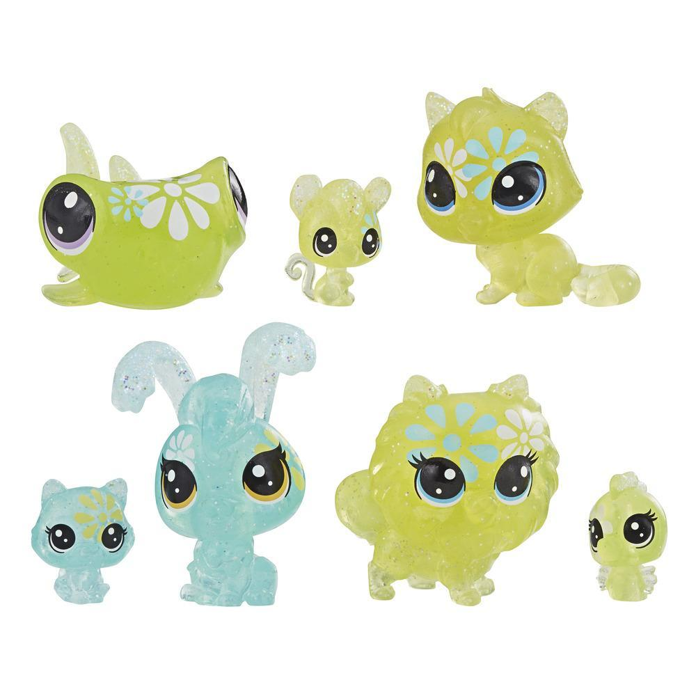 Littlest Pet Shop Petal Party Daisy Collection, 7 pets, part of the LPS Petal Party Collection