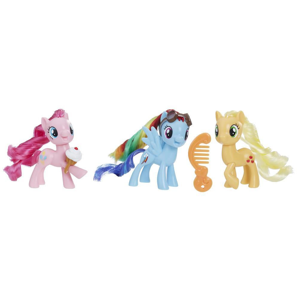 My Little Pony Equestria Friends Pinkie Pie, Rainbow Dash, and Applejack