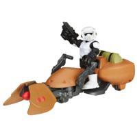 Playskool-helter Star Wars Galaktiske helter Speeder Bike og Scout Trooper