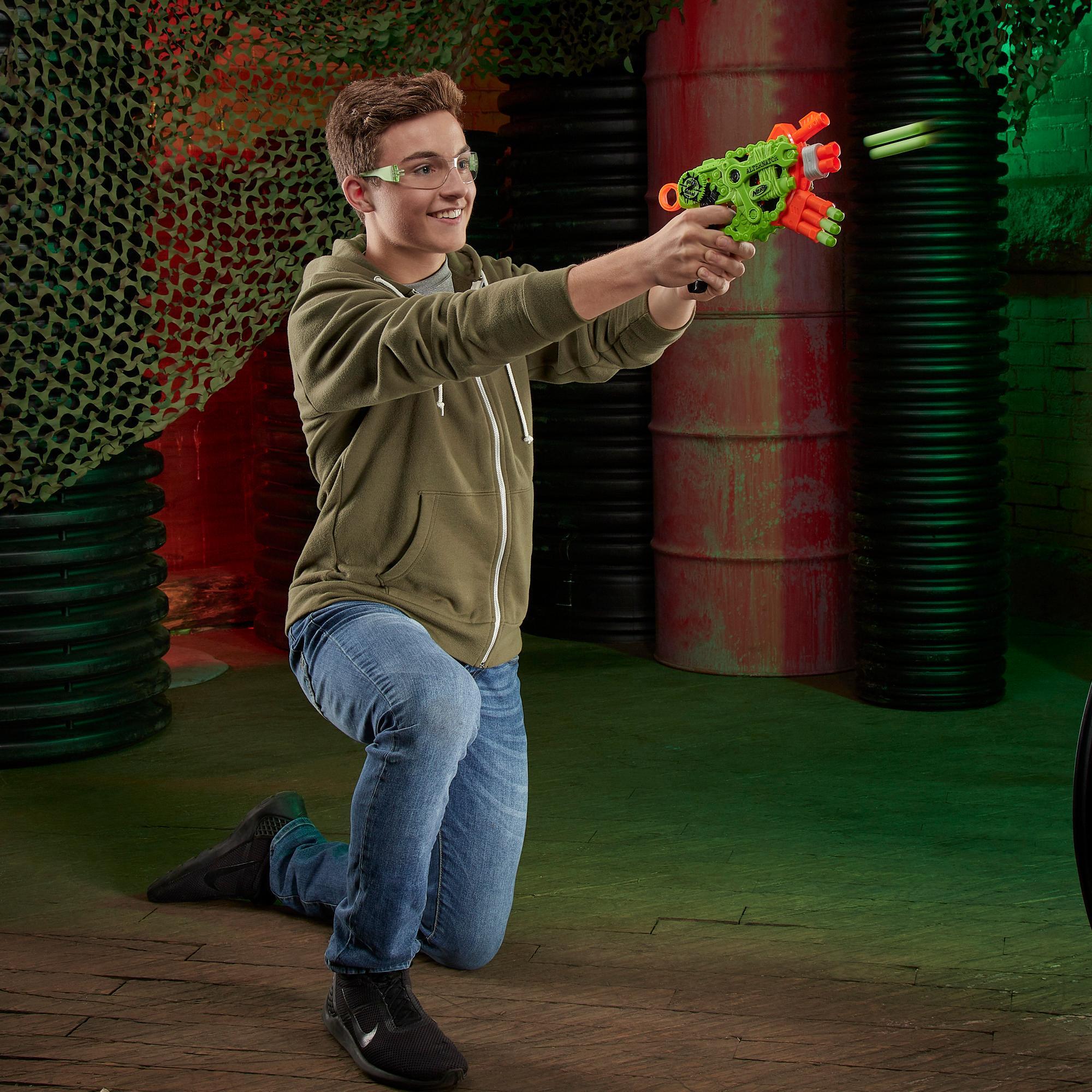 Nerf Zombie Strike Alternator Blaster -- Includes 12 Official Nerf Zombie Strike Elite Darts - For Kids, Teens, Adults