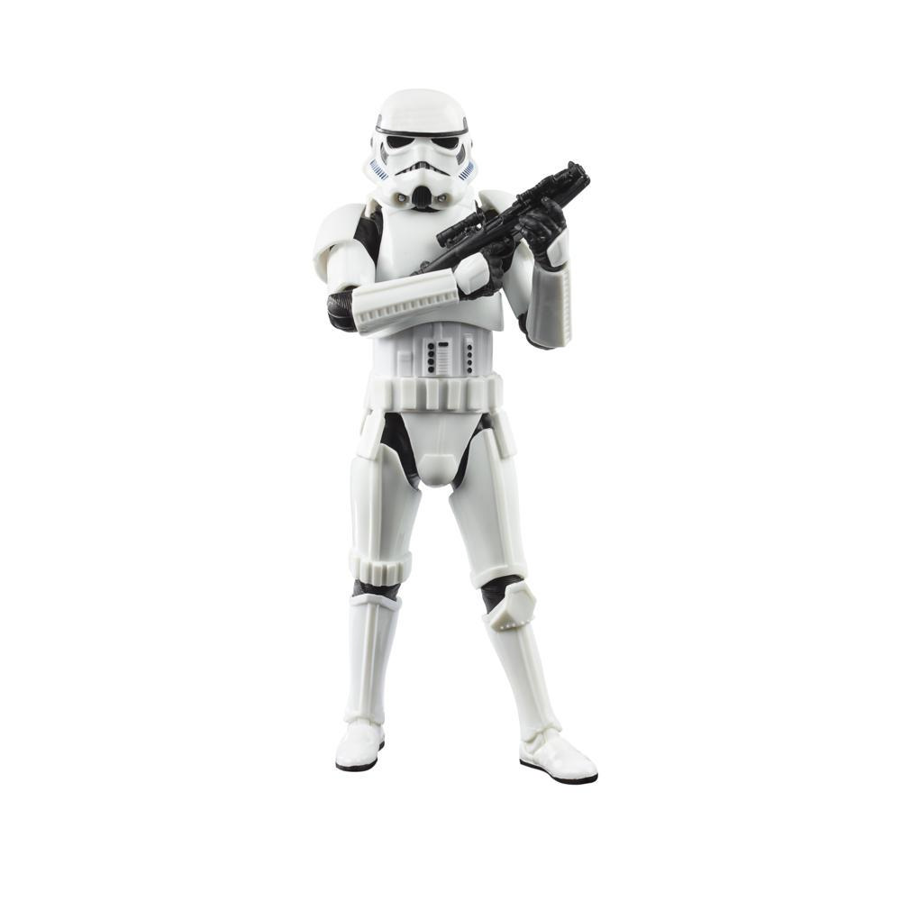 Star Wars The Black Series Imperial Stormtrooper-leke 15 cm høy The Mandalorian-figur, for barn fra 4 år
