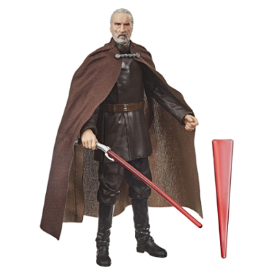 15 cm høy Grev Dooku-leke fra Star Wars The Black Series. Samle- og actionfigur fra Star Wars: Attack of the Clones